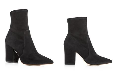 Loeffler Randall Women's Isla Suede Pointed Toe Block Heel Booties - Bloomingdale's_2