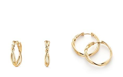 David Yurman Continuance Knot Hoop Earrings in 18K Gold - Bloomingdale's_2
