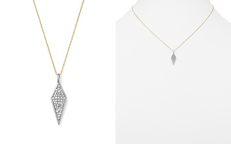 "Adina Reyter Sterling Silver and 14K Yellow Gold Pavé Diamond Pendant Necklace, 15"" - Bloomingdale's_2"