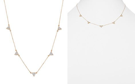 "Adina Reyter 14K Yellow Gold Pavé Diamond Triangle Station Necklace, 17"" - Bloomingdale's_2"