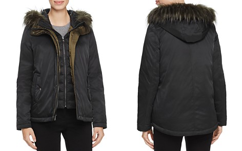 SAGE Collective Faux Fur Trim New Flight Satin Jacket - 100% Exclusive - Bloomingdale's_2