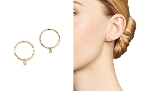 Zoë Chicco 14K Yellow Gold Circle Earrings with Diamonds - Bloomingdale's_2