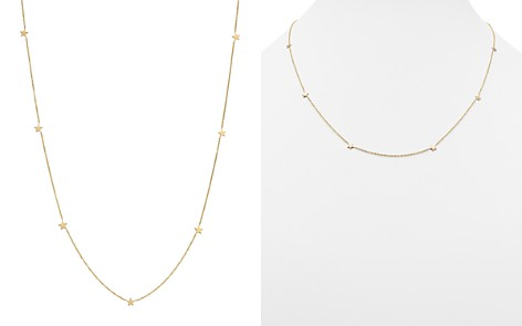 "Zoë Chicco 14K Yellow Gold Itty Bitty Star Station Necklace, 20"" - Bloomingdale's_2"
