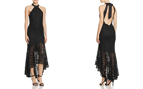 Jarlo Open-Back High/Low Lace Gown - Bloomingdale's_2