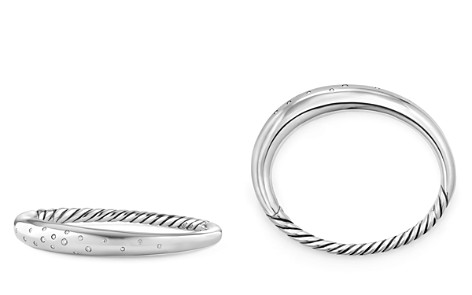 David Yurman Pure Form Smooth Bracelet with Diamonds - Bloomingdale's_2