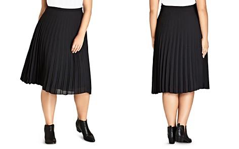 City Chic Accordion Pleat Midi Skirt - Bloomingdale's_2