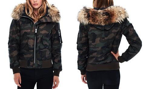 SAM. Jenny Camo Fur Trim Puffer Bomber Jacket - Bloomingdale's_2