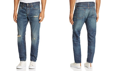 rag & bone Standard Issue Fit 2 Slim Fit Jeans in Distressed Medium Blue - Bloomingdale's_2
