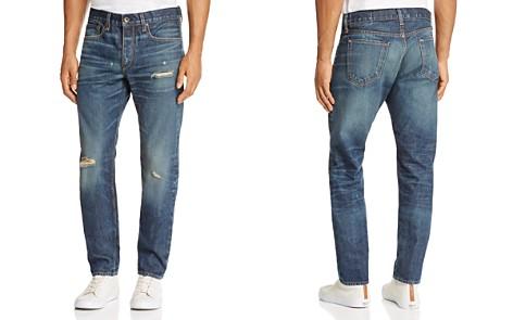 rag & bone Standard Issue Fit 2 Slim Fit Jeans in Distressed Medium Blue - Bloomingdale's_2