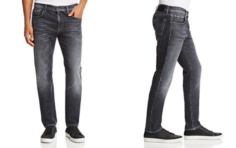 7 For All Mankind Adrien Barrow Straight Fit Jeans in Faded Black - 100% Exclusive - Bloomingdale's_2