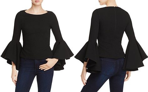 Badgley Mischka Bell-Sleeve Top - Bloomingdale's_2