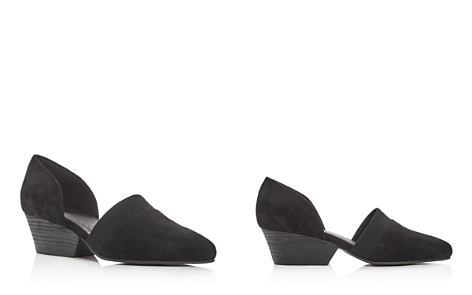 Eileen Fisher Women's Hilly Suede d'Orsay Mid-Heel Pumps - Bloomingdale's_2