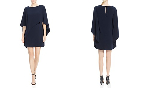 HALSTON HERITAGE Cape Sleeve Capelet Dress - Bloomingdale's_2