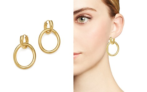 14K Yellow Gold Oval Double Hoop Earrings - 100% Exclusive - Bloomingdale's_2