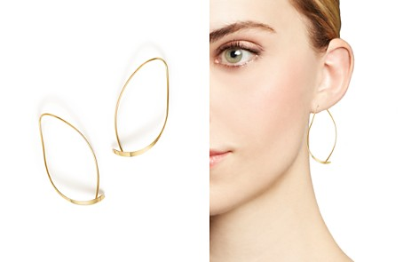 Bloomingdale's 14K Yellow Gold Curved Sweep Earrings - 100% Exclusive_2