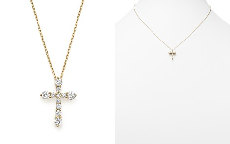 Diamond Cross Pendant Necklace in 14K Yellow Gold, .50 ct. t.w. - 100% Exclusive - Bloomingdale's_2