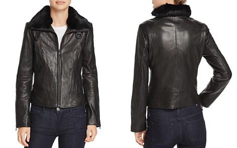 Andrew Marc Cambridge Fur Trim Leather Jacket - Bloomingdale's_2