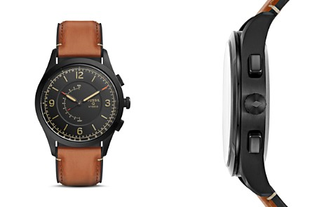 Fossil Q Activist Leather Strap Hybrid Smartwatch, 42mm - Bloomingdale's_2