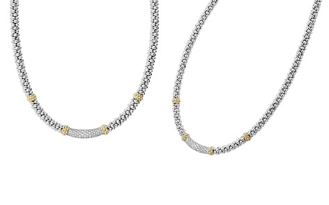 "LAGOS 18K Gold & Sterling Silver Diamond Lux Collar Necklace, 18"" - Bloomingdale's_2"
