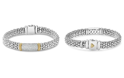 LAGOS 18K Gold & Sterling Silver Diamond Lux Pavé Station Bracelet, 18mm - Bloomingdale's_2