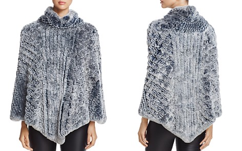Maximilian Furs Knit Rabbit Fur Poncho - 100% Exclusive - Bloomingdale's_2