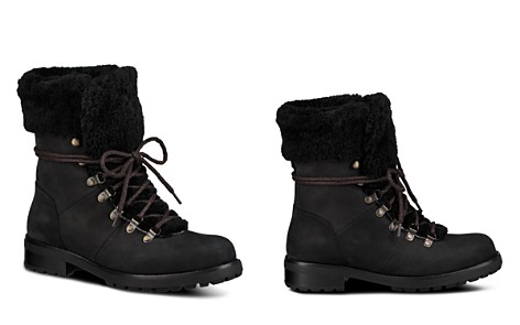 UGG® Women's Fraser Nubuck Leather & Sheepskin Lace Up Booties - Bloomingdale's_2