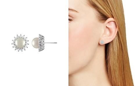 Majorica Simulated Pearl Sunburst Stud Earrings - Bloomingdale's_2