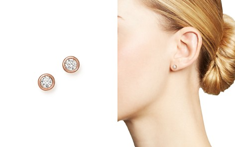Bloomingdale's Diamond Bezel Set Stud Earrings in 14K Rose Gold, .50 ct. t.w. - 100% Exclusive_2