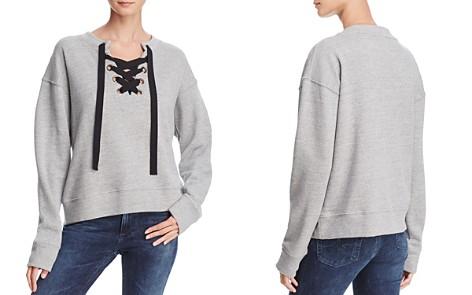Black Orchid Lace-Up Sweatshirt - Bloomingdale's_2