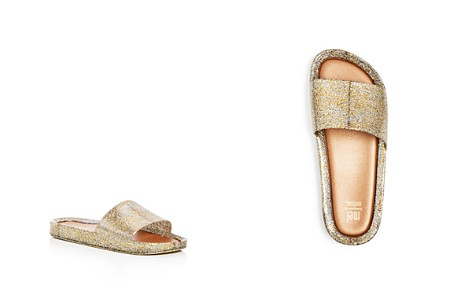 Mini Melissa Girls' Mel Glitter Jelly Pool Slide Sandals - Big Kid - Bloomingdale's_2
