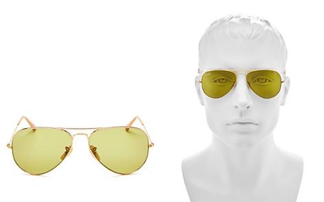 Ray-Ban Unisex Polarized Evolve Aviator Sunglasses, 58mm - Bloomingdale's_2