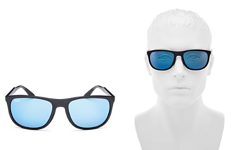 Ray-Ban Youngster Polarized Mirrored Square Sunglasses, 58mm - Bloomingdale's_2