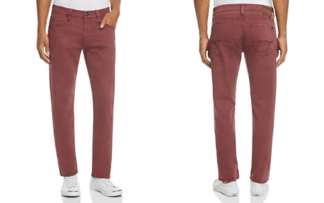 Mavi Zach Straight Fit Five-Pocket Chinos in Burgundy - Bloomingdale's_2