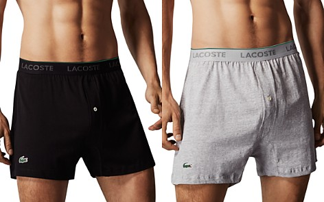 Lacoste Knit Boxers, Pack of 3 - Bloomingdale's_2