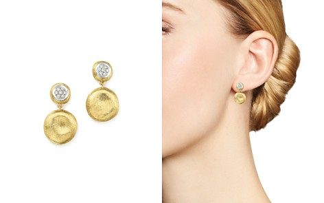 Marco Bicego 18K White & Yellow Gold Diamond Pavé Jaipur Link Drop Earrings - 100% Exclusive - Bloomingdale's_2