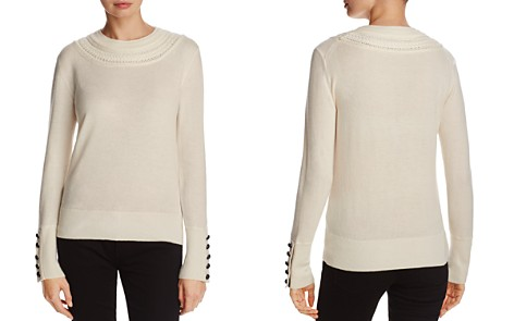 Burberry Carapelle Braided Neck Cashmere Sweater - Bloomingdale's_2