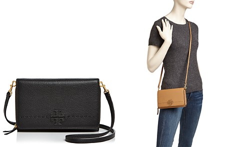 Tory Burch McGraw Flat Leather Wallet Crossbody - Bloomingdale's_2