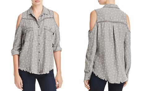 Billy T Cold Shoulder Paisley Print Utility Shirt - Bloomingdale's_2