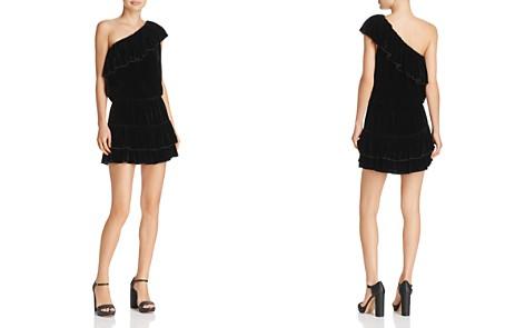 Joie Kolda B Ruffled One-Shoulder Velvet Mini Dress - Bloomingdale's_2