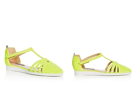 SJP by Sarah Jessica Parker Women's Meteor Suede T-Strap Flats - Bloomingdale's_2