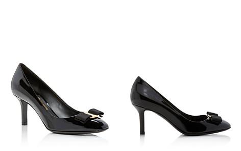 Salvatore Ferragamo Women's Bow Detail Patent Leather Pumps - Bloomingdale's_2