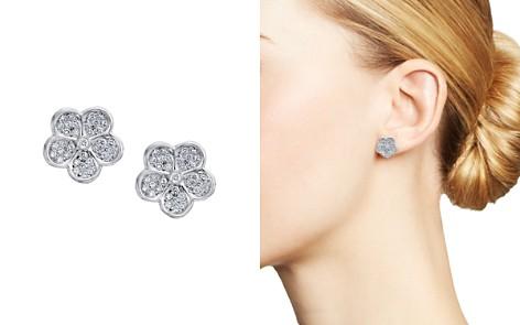 Gumuchian 18K White Gold Small Pavé Diamond Floating G Boutique Daisy Stud Earrings - Bloomingdale's_2