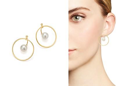 MATEO 14K Yellow Gold Floating Pearl & Hoop Ear Jackets - Bloomingdale's_2