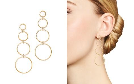 MATEO 14K Yellow Gold Diamond Connected Circle Drop Earrings - Bloomingdale's_2