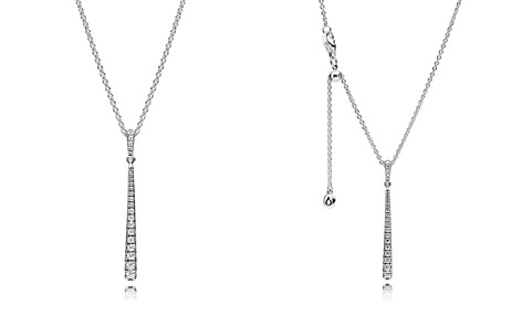 PANDORA Sterling Silver & Cubic Zirconia Shooting Star Y Necklace - Bloomingdale's_2