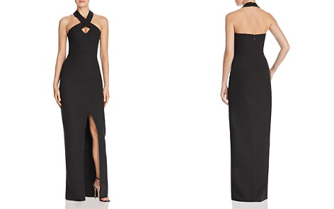 Bariano Cross-Front Halter Gown - Bloomingdale's_2