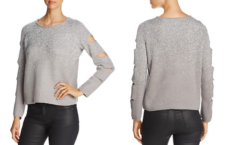 Design History Sparkle Cutout-Sleeve Sweater - Bloomingdale's_2