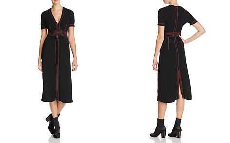 Burberry Benni Topstitched Midi Dress - Bloomingdale's_2