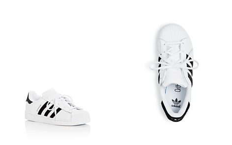 Adidas Unisex Superstar Leather & Velvet Lace Up Sneakers - Toddler, Little Kid - Bloomingdale's_2