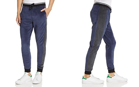 Calvin Klein Jeans Velour Color-Block Jogger Pants - Bloomingdale's_2
